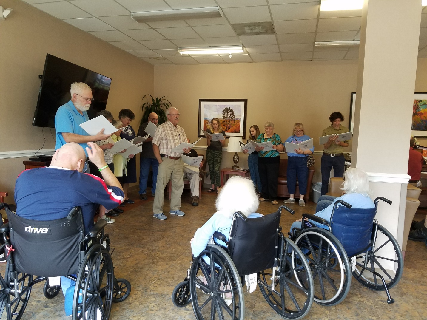 Outreach Singers at the Laurels of Summit Ridge